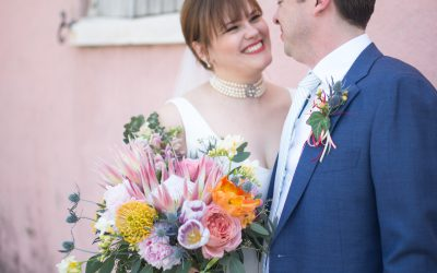 Tropical New Orleans Wedding with Millennial Pink Details