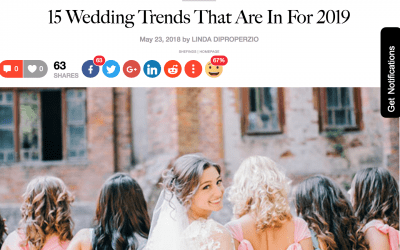 Blooms News: We're Featured on SheFinds, My Hotel Wedding, Sunset and Zola!