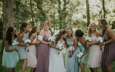 Shabby Chic Barn Wedding filled with Baby's Breath