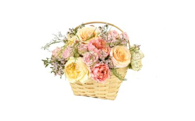 DIY Flower Basket Featured on Emmaline Bride