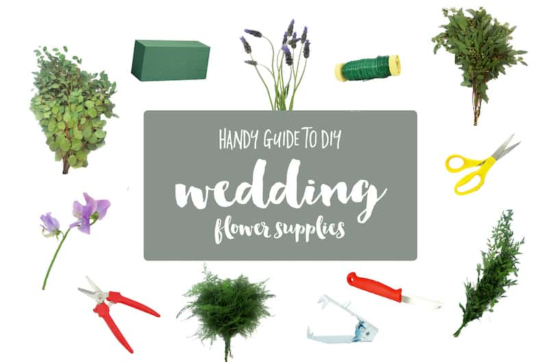 Guide to DIY Wedding Flower Supplies featured on Confetti Daydreams
