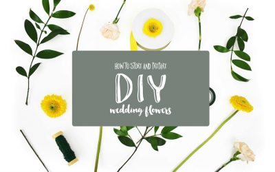 11 Tips for Preparing and Storing DIY Wedding Flowers featured on Confetti Daydreams