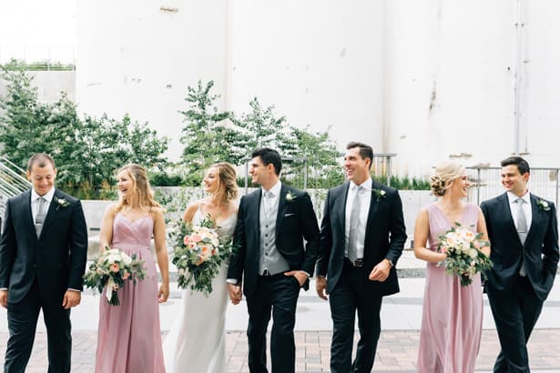 Industrial Wedding with Classically Modern Flowers Featured on Belle The Magazine