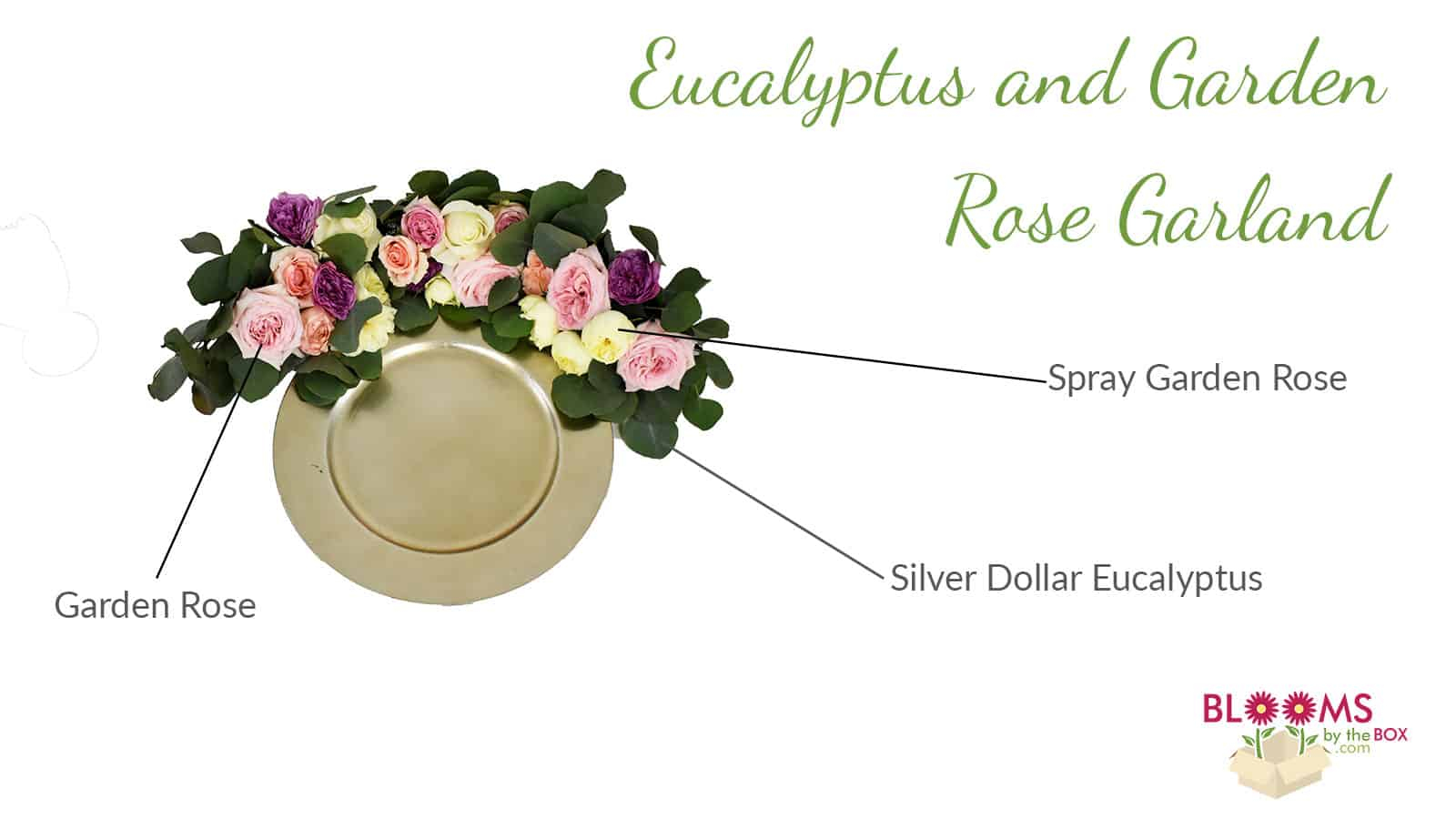 green pink and cream garland table runner