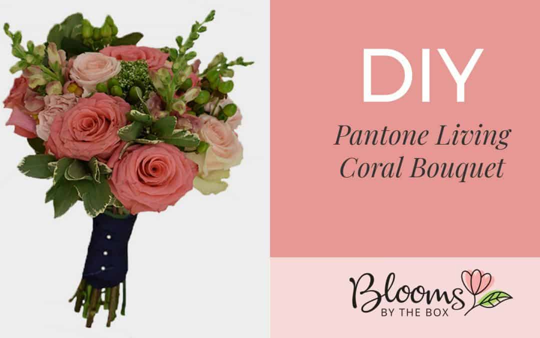 DIY Pantone Living Coral Bouquet