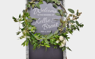 DIY Reception Wreath Featured on Emmaline Bride