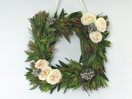 Customized DIY Square Wreath with Fresh Flowers
