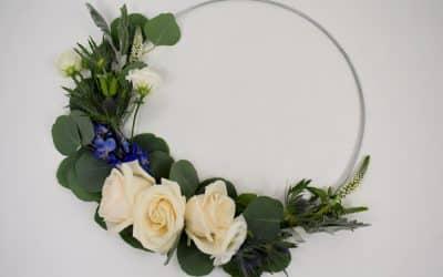 DIY Wedding Hoop Bouquet