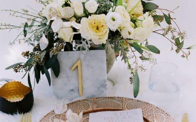 Wintry White Wedding Centerpieces