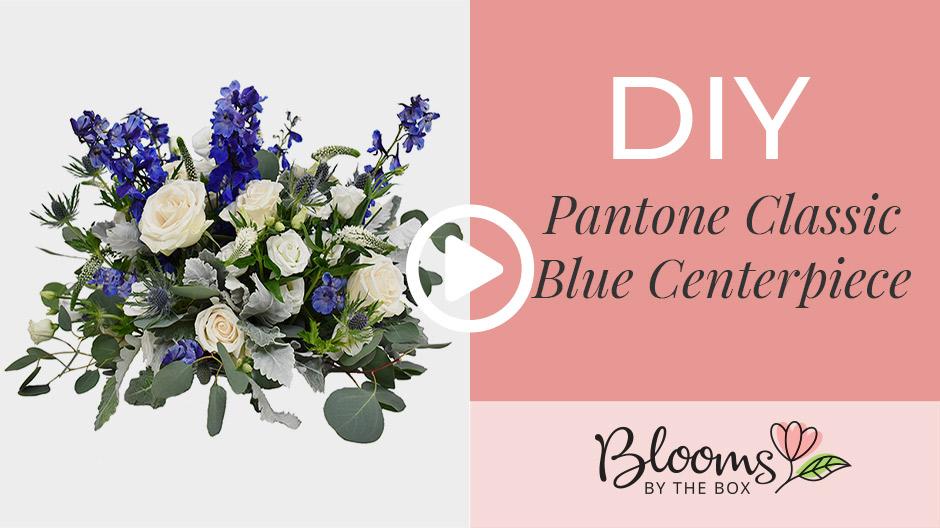 DIY Pantone Classic Blue Centerpiece
