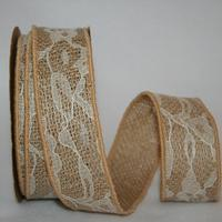 1 3/8 inch Natural Lace Burlap 10 Yards