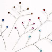Light Blue Rhinestone 12/pkg