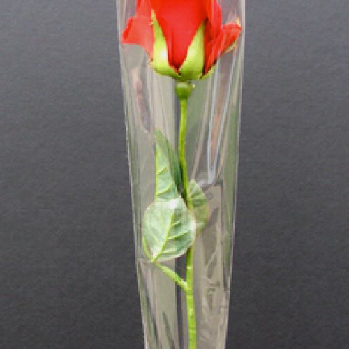 cellophane single rose sleeve clear 1x215x475 50 pack