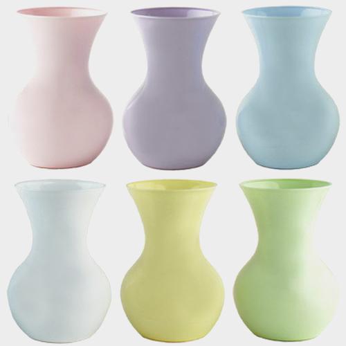 Wholesale Assorted Pastel Plastic Vases 9 75hx5w 12 Per Case