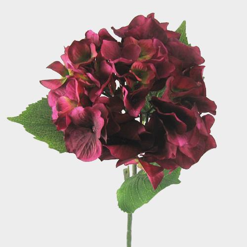 Wholesale silk hydrangea 23 burgundy blooms by the box mightylinksfo