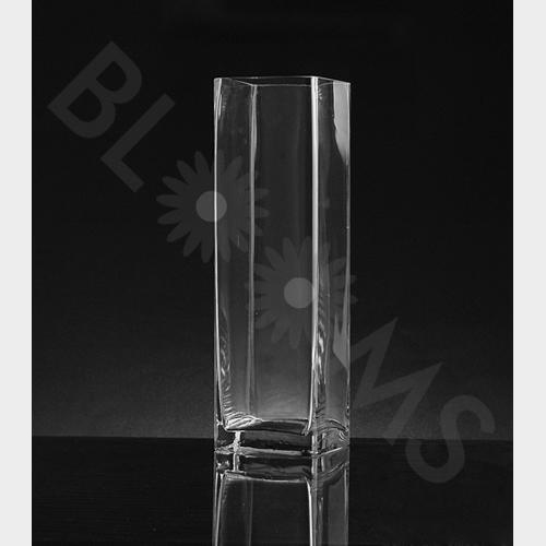 Wholesale Large Square Glass Vase 14h X 4 X 4 Blooms By The Box