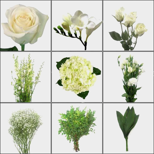 Pure White DIY Wedding Flower Pack