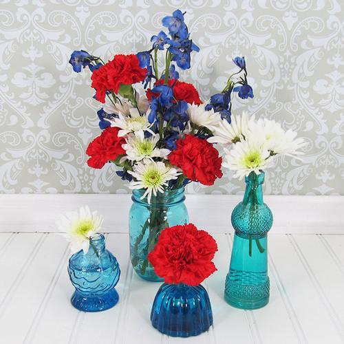 Patriotic DIY Flower Party Pack