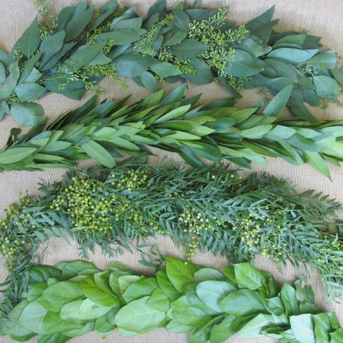 Garland Single Green 25 Feet Wholesale Blooms By The Box
