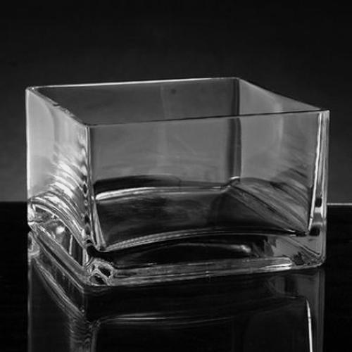 Wholesale Xsmall Square Glass Vase 3h X 5 X 5 Blooms By The Box