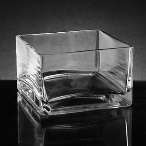 Wholesale Small Square Glass Vase 4h X 6 X 6 Blooms By The Box