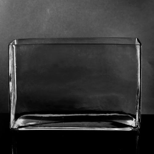 Wholesale Large Rectangle Glass Vase 7h X 10 X 3 Blooms By