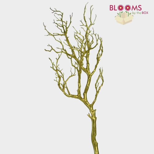 36 Inch Gold Metallic Manzanita Branch