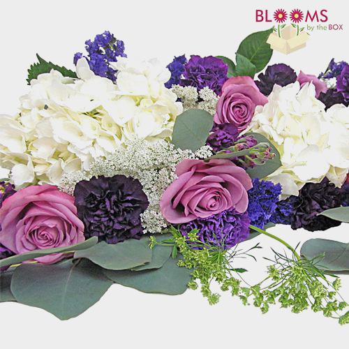 Wedding Flowers In A Box: DIY Purple Wedding Flowers