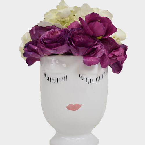 White Celfie Pot 5.5 x 6.75 Inch